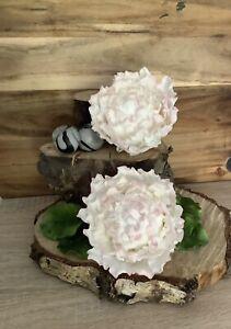 2 Medium White Peony's Sugar Cake Decoration Wedding/Celebration Cake Topper