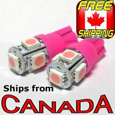 2x T10 194 Purple Pink LED Bulbs, 5 HighPower 5050 Chips