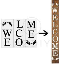 Welcome Stencil - Large Letter Stencil for Porch Sign -Reusable Home Décor & DIY