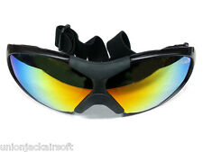 Cycling Airsoft Sport Wind Dust Goggles Glasses Mirror