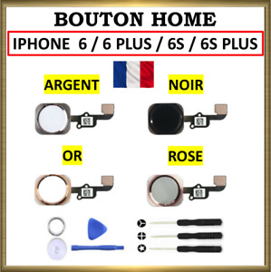 BOUTON HOME + NAPPE COMPLET IPHONE 6 / 6S 6 PLUS 6S PLUS BLANC / NOIR / OR  ROSE