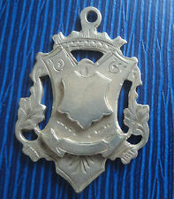 EARLY Large Silver Football Fob Medal 1912  -  Montague Athletic F.C.  Tottenham