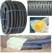 60mm/80mm/100mm/160mm x 25m/50m/100m Land French Drainage Perforated Pipe Tree