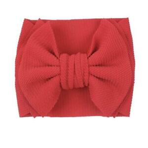 Large Bow Baby Headband - Red