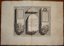 Piranesi stampa antica old print kupferstich 1784 iscrizioni pretoriani roma