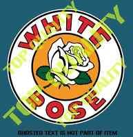 WHITE ROSE GAS Decal Sticker Vintage Retro Americana Hot Rod Rat Rod Stickers