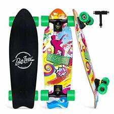 "BELEEV Cruiser Skateboard, 27""x8"" Complete Skateboard for Kids Teens & Adults"