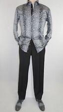 Men Shirt J.Valintin Turkey-Usa 100% Egyption Cotton Axxess Style 7164-10 gray