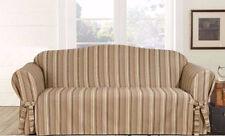 LOVESEAT Harbor stripe One Piece Slipcover sure fit slip cover brown stripe