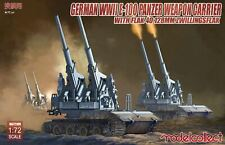 Model Collect 1/72 German WWII E-100 Panzer Weapon Carrier with Flak 40 128mm ##