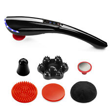 Handheld Electric Massager Back Neck Foot Vibrating Therapy Machine with 6 parts