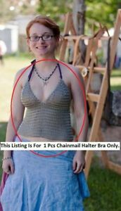 CHAINMAIL HALTER BRA MEDIEVAL ANTIQUE STYLE BEST GIFT FOR WOMENS