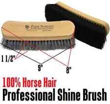 "9"" White Professional Shoe Repair 100% Horsehair Shoe Shine Brush Polish Buff"