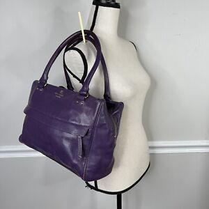 Kate Spade Purple Leather Work Bag Tote Purse