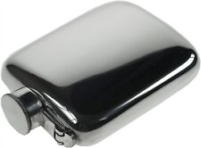 4oz Plain Pewter Pocket Hip Flask with Captive Top by Wentworth of Sheffield