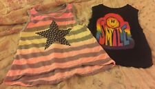 Flowers By Zoe Toddler Girls Size 4T Lot Of 2 Adorable Tops Smiley Star