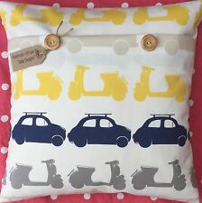 Retro VW Camper Van/Beetle Quality John Lewis cotton handmade cushion cover