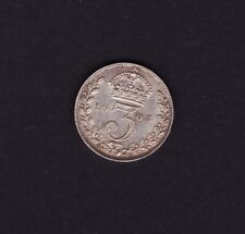 1905 Great Britain UK Threepence Silver Coin
