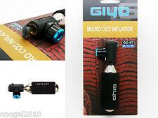 Micro Adaptador Inflador Valvula Schrader y Presta Giyo Botella CO2 y Funda 3164