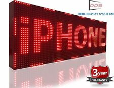 """Outdoor Indoor Led Signs 12"""" x 63"""" 10mm Programmable Message Display Red Color"""