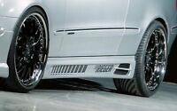 Rieger Seitenschweller schwarz matt für Mercedes Benz CLK (W209): 00.02-06.04 (b