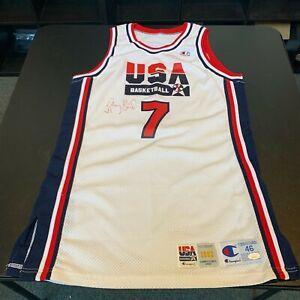 Larry Bird Game Used Signed 1992 Olympics Team USA Jersey JSA & Sports Investors