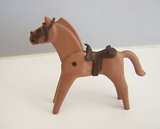 PLAYMOBIL (B8109) WESTERN - Cheval Marron Clair pour Attelage Diligence Chariot