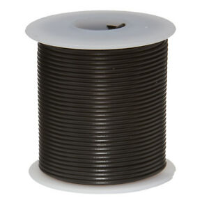 """24 AWG Gauge Stranded Hook Up Wire Black 100 ft 0.0201"""" UL1007 300 Volts"""