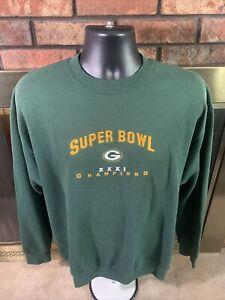 Vintage Green Bay Packers NFL Football Crewneck Sweatshirt Mens Large Super Bowl