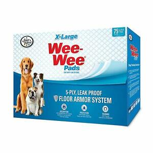Four Paws Wee-Wee Pads for Dogs, X-Large 28x34 Inch, 75 Count