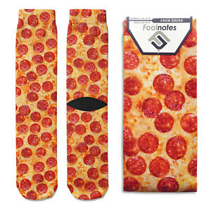 Pepperoni Pizza Crew Socks - Footnotes Novelty Socks