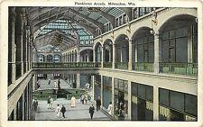 c1920 Printed Postcard; Plankinton Arcade Mall, Milwaukee WI Unposted
