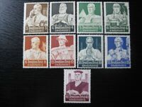 THIRD REICH Mi. #556-564 scarce mint stamp set! CV $120.00