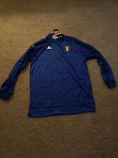 1999/2000 Kappa Italy Soccer Jersey Azzurri Blue Long Sleeve Men's Large NWT