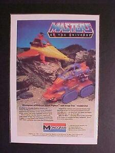 OLD MASTERS OF UNIVERSE SPACE SHIP PLASTIC MODEL KIT TOY PRINT AD~ VINTAGE 1983
