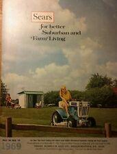 Sears 1969 Suburban Farm Color Catalog Ss 12 Garden Lawn Tractor Tools Tiller