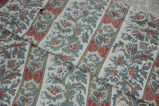 Antique French Arts and Crafts cotton printed fabric material