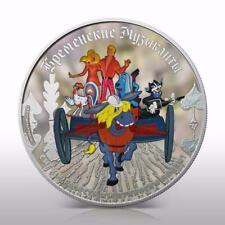 "Cook Islands 2011 25$ ""Bremen Musicians"" 5 Oz Silver Coin"