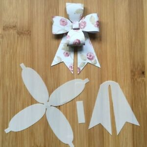 Hair Bow Making Template Stencil 3 pieces ROSETTE Bow for Hair