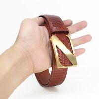 Men's Belt Genuine Crocodile Alligator Skin Leather Belt Handmade W3.5cm #JB1805