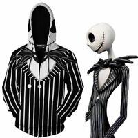 The Nightmare Before Christmas Jack Skellington 3D Cosplay Jacket Hoodie Tops