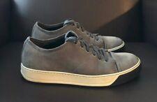 Lanvin Men's Nubuck Leather Cap Toe Sneakers Gray Size 7 UK / 8 US $600