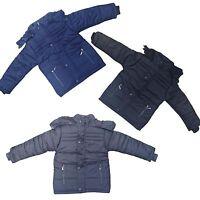 New Winter WARM Boys Jacket Detachable Hood Padded Coat Puffa Anorak 3-14 y #129