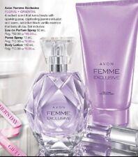 AVON FEMME EXCLU EDP Spray 50ml - NIB plus shower gel, And Purse EDP RRP $69