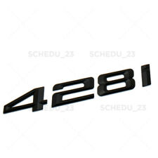 Matte Black BMW 428i Logo Emblem Badge Car Trunk Lid M Power Series Performance