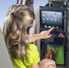 2X Back Seat Tablet Holder Organiser Car Passenger Storage Pockets iPad Headrest