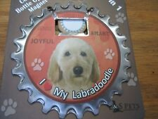 E&S Pets I Love My Labradoodle Tan 3 in 1 Bottle Opener Coaster Magnet New