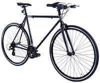 Golden Cycles Velo Revo Shift 7 speed Bicycle Bike Black 41 45 48 52 55 59 62 CM