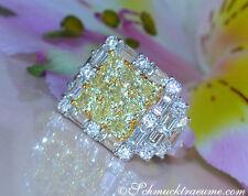 Echte Diamanten-Ringe aus Gelbgold mit Prinzess