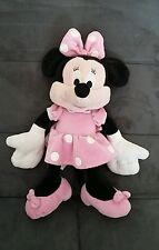 peluche doudou Minnie robe rose à pois Disney Nicotoy 30 cm + noeud TTBE